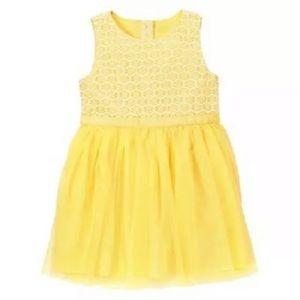 Gymboree Toddler Girls yellow lace tulle dress